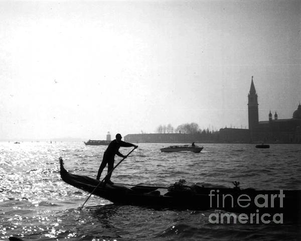 Venice Gondola Print by Rita Brown