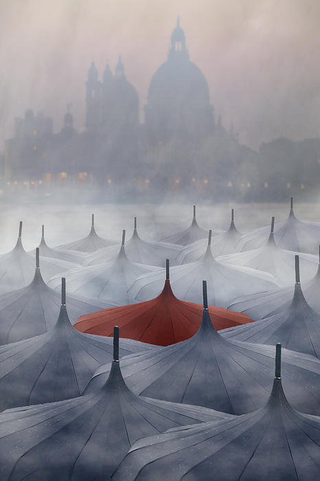 Venice In Rain Print by Joana Kruse