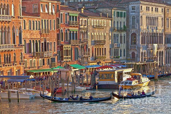 Venice Palazzi At Sundown Print by Heiko Koehrer-Wagner