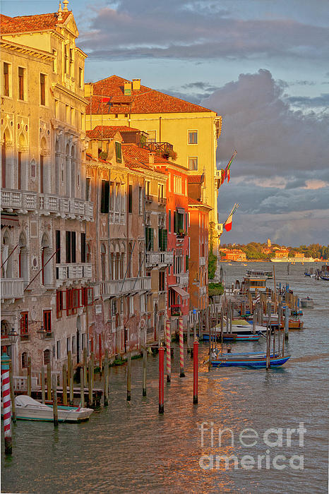 Venice Romantic Evening Print by Heiko Koehrer-Wagner