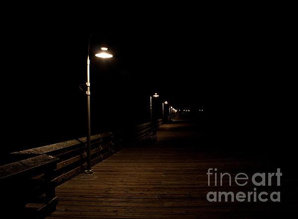Ventura Pier At Night Print by John Daly
