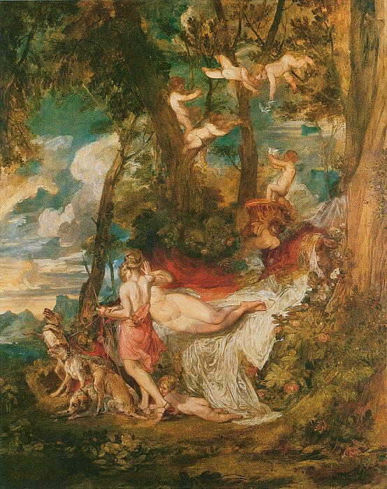 Venus And Adonis Print by Joseph Mallord William Turner