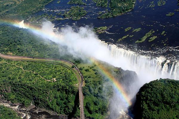 Victoria Falls Rainbow Print by Aidan Moran