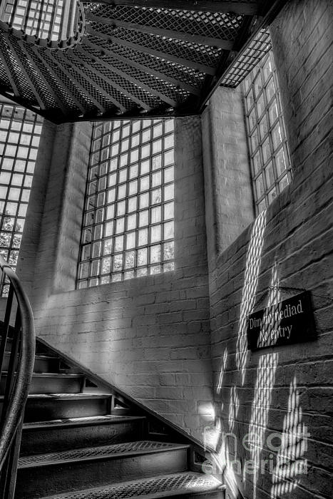 Victorian Jail Staircase V2 Print by Adrian Evans