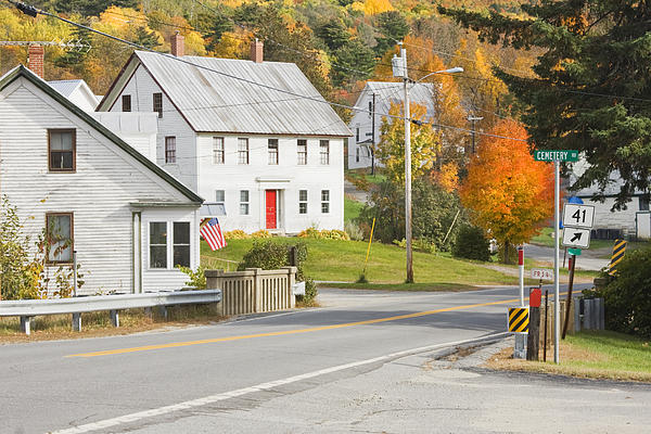 Vienna Maine In Fall Print by Keith Webber Jr