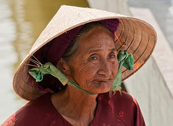 Vietnamese Lady Print by Rick Piper Photography