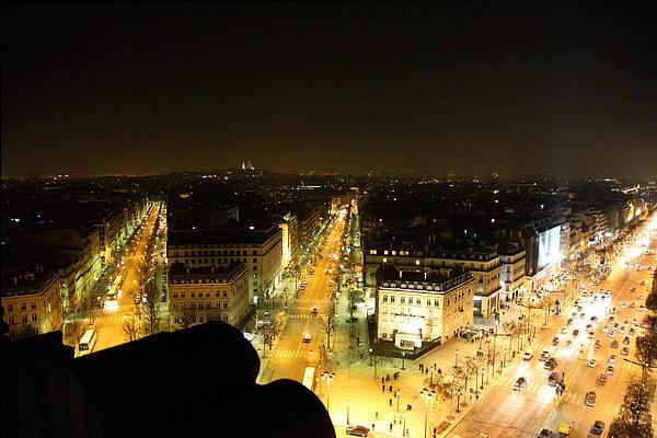View From Arc De Triomphe - Paris France - 011316 Print by DC Photographer