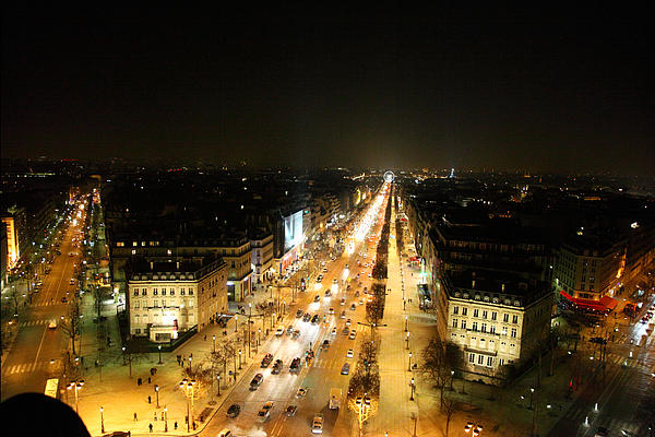 View From Arc De Triomphe - Paris France - 011318 Print by DC Photographer