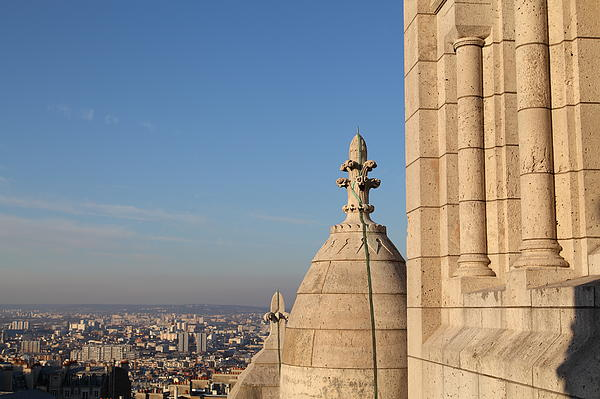 View From Basilica Of The Sacred Heart Of Paris - Sacre Coeur - Paris France - 01131 Print by DC Photographer