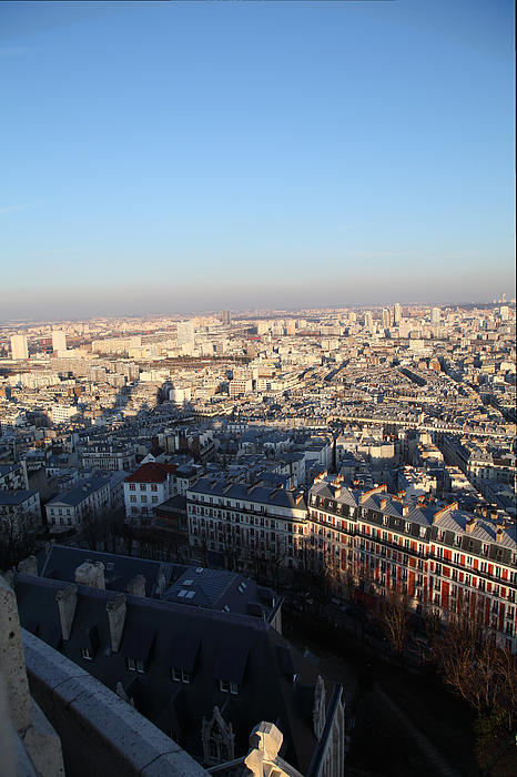 View From Basilica Of The Sacred Heart Of Paris - Sacre Coeur - Paris France - 011326 Print by DC Photographer