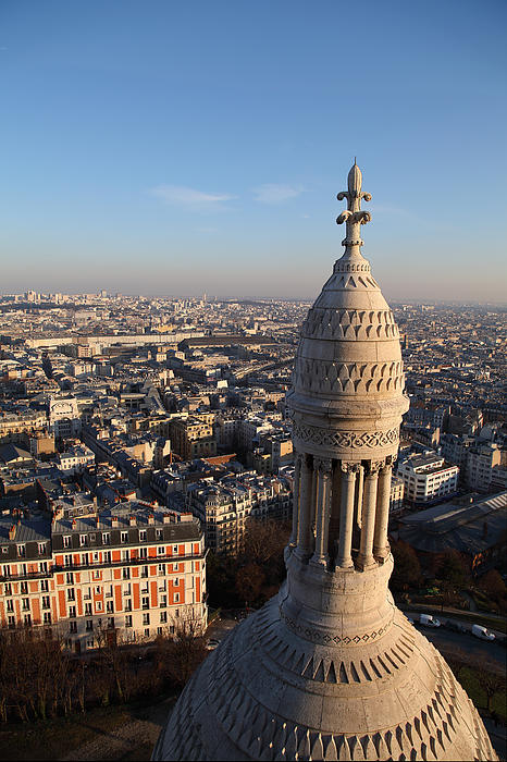 View From Basilica Of The Sacred Heart Of Paris - Sacre Coeur - Paris France - 011332 Print by DC Photographer