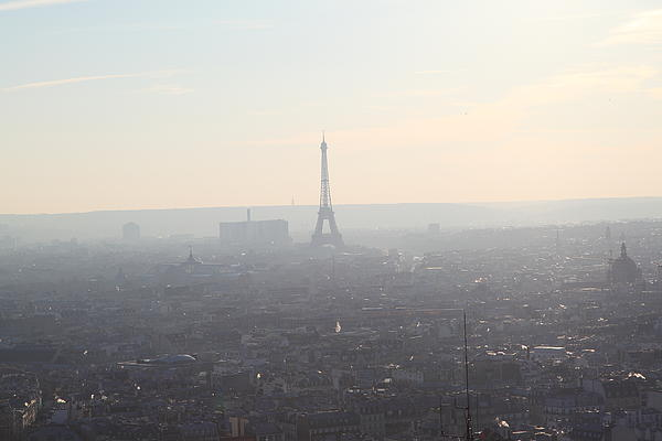 View From Basilica Of The Sacred Heart Of Paris - Sacre Coeur - Paris France - 01137 Print by DC Photographer