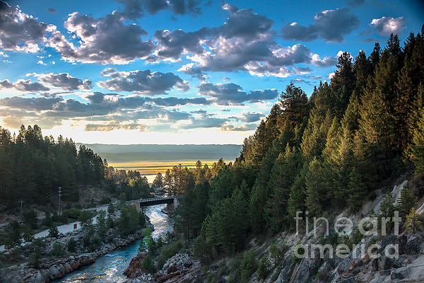 View From Cascade Dam Of The North Fork Of The Payette River Print by Robert Bales