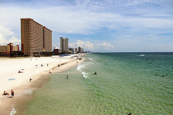 View From Dan Russell Municipal Pier Panama City Beach Print by Vicki Kennedy