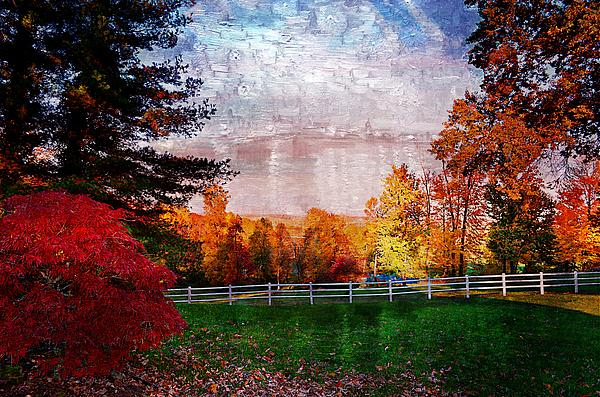 View From Sugarland Heights Print by Julie Dant