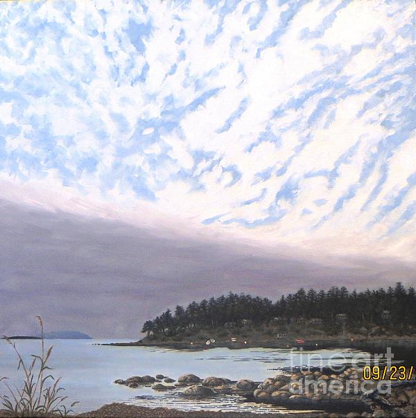 View From The Haven Beach Gabriola Print by Beverly Theriault