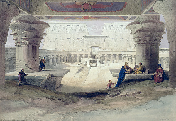 View From Under The Portico Of Temple Print by David Roberts