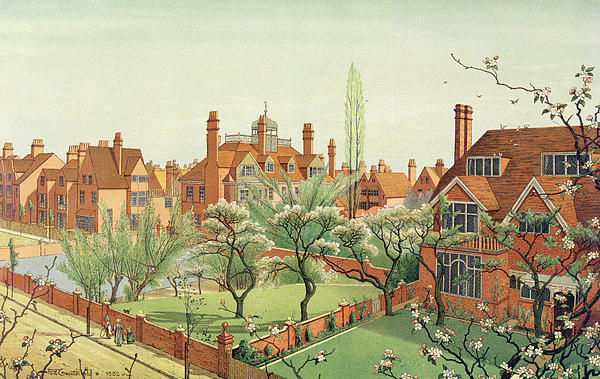 View Of Bedford Park Print by English School