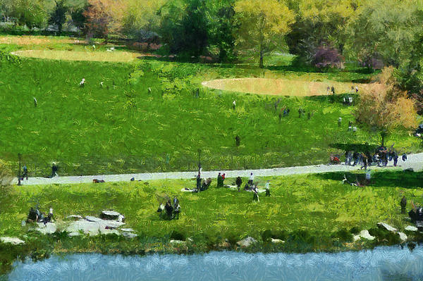 View Of Great Lawn In Central Park Print by George Atsametakis