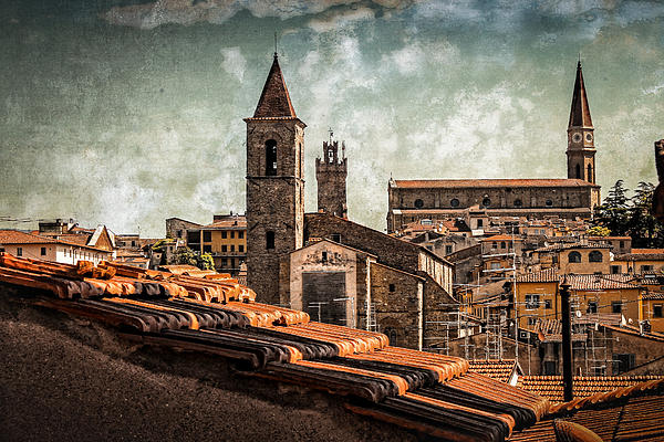 View Over Arezzo Print by Hugo Bussen
