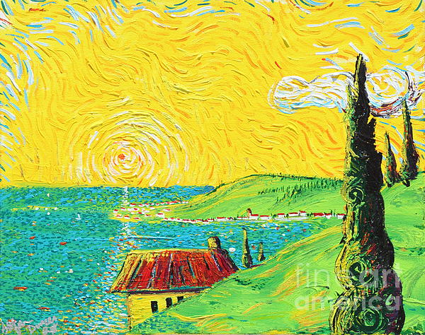 Village By The Sea Print by Stefan Duncan