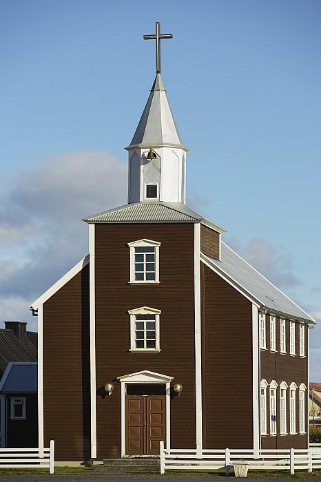 Village Church Of Eyrarbakki Print by Michael Thornton
