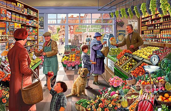 Village Greengrocer  Print by Steve Crisp