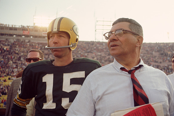 Vince Lombardi With Bart Starr Print by Retro Images Archive