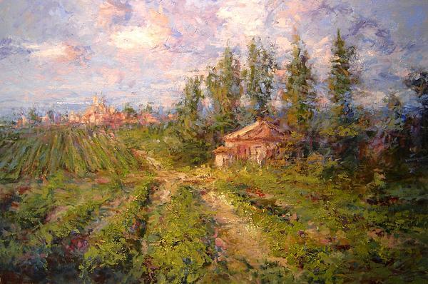 R W Goetting - Vineyard in Tuscany