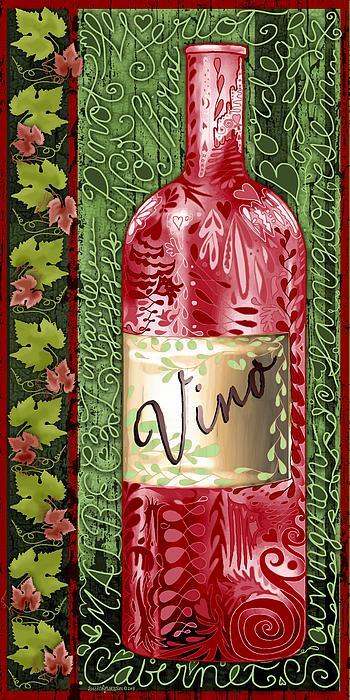 Vino Reds Print by Sharon Marcella Marston