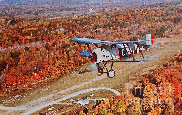 Vintage Airplane Postcard Print by Valerie Garner