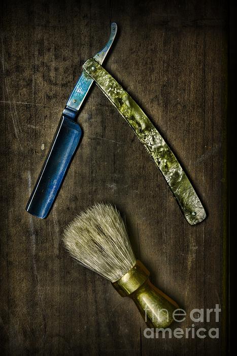 Vintage Barber Tools Print by Paul Ward