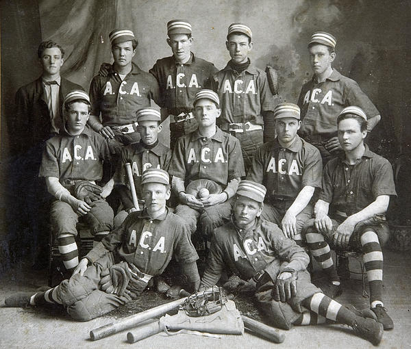 Vintage Baseball Team Print by Russell Shively