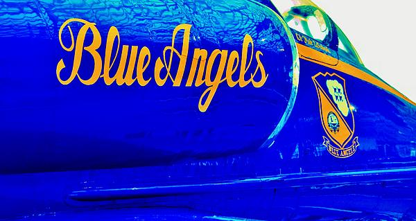 Vintage Blue Angel Print by Benjamin Yeager