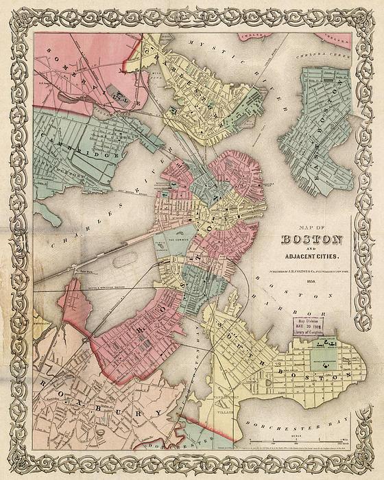 Joann Vitali - Vintage Boston Map 2