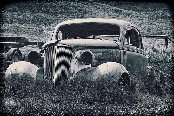 Vintage Car At Bodie Print by Kelley King