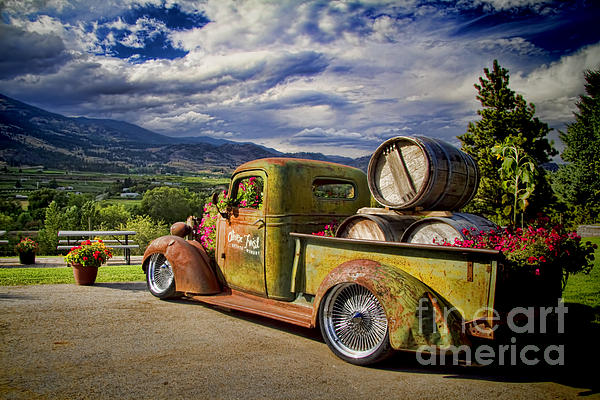 Vintage Chevy Truck At Oliver Twist Winery Print by David Smith