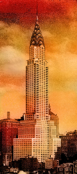 Vintage Chrysler Building Print by Andrew Fare