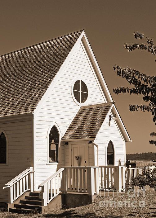 Connie Fox - Vintage Church in Sepia