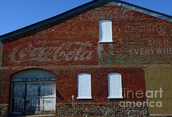 Vintage Coca Cola Ghost Sign Print by Paul Ward