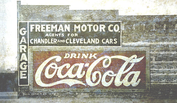 Vintage Cola Sign Mural Print by Ann Powell