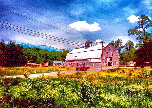 Vintage Country Landscape Print by Annie Zeno