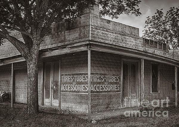 Vintage D'hanis Texas Business Print by Priscilla Burgers