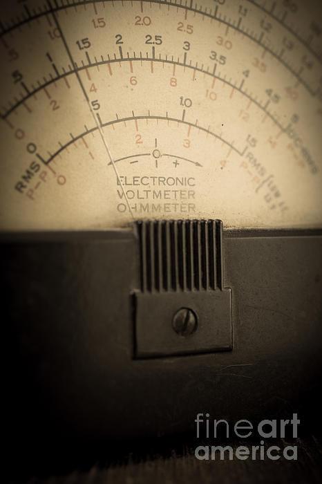 Vintage Electric Meter Print by Edward Fielding