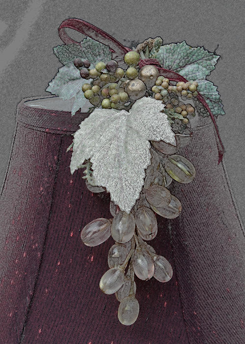 Vintage Glass Grapes Print by Sherry Hallemeier