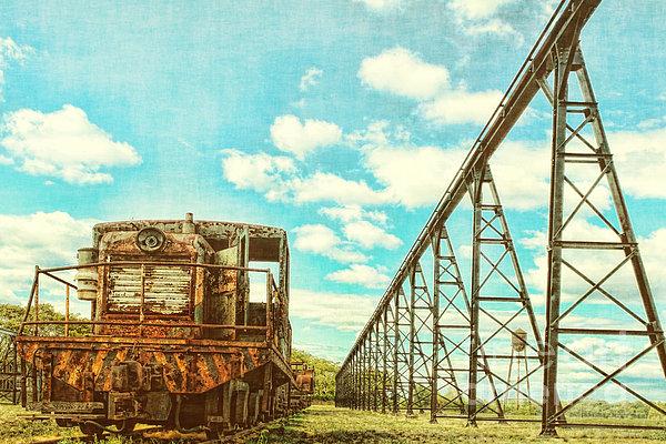 Vintage Industrial Postcard Print by Olivier Le Queinec