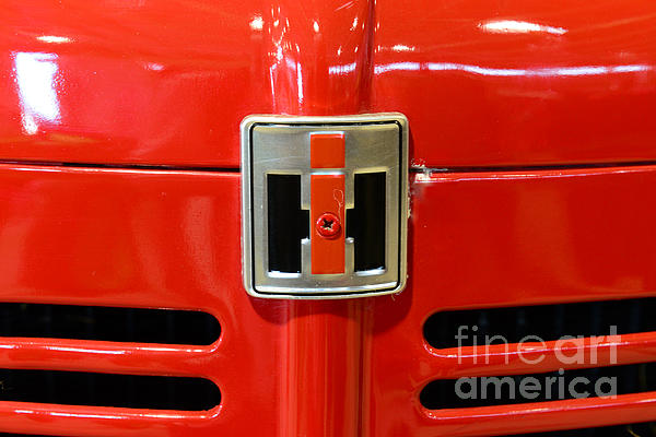 Vintage International Harvester Tractor Badge Print by Paul Ward