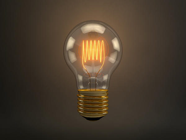 Vintage Light Bulb Print by Scott Norris