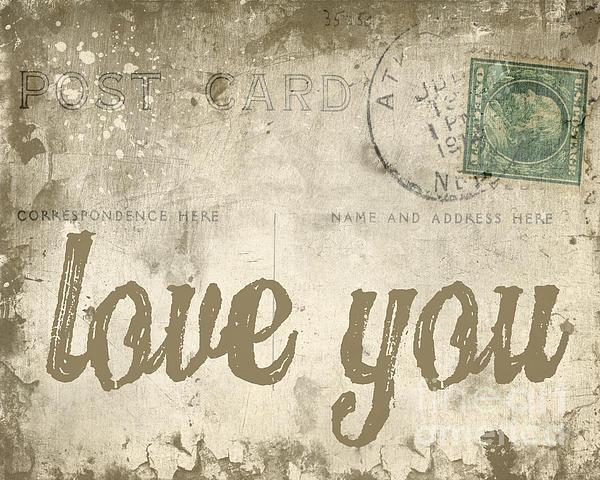 Vintage Love Letters Print by Edward Fielding