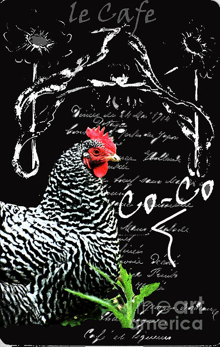 Vintage Menu And Chicken Print Print by adSpice Studios